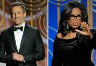 Seth Meyers and Oprah Winfrey Golden Globes 2018