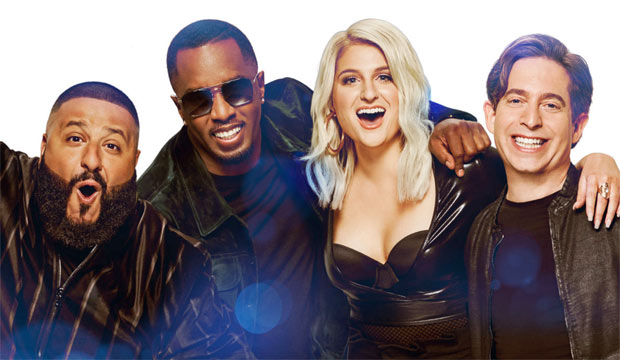 the-four-fox-panelists-Sean-Combs-DJ-Khaled-Meghan-Trainor-Charlie-Walk