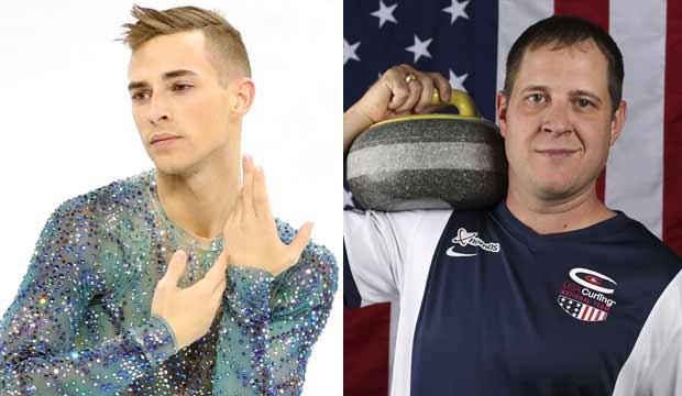 Adam Rippon and John Shuster