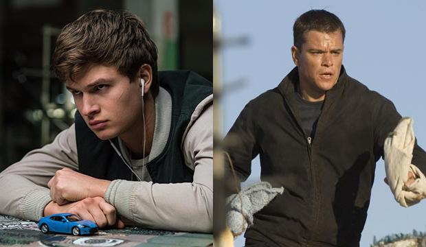 Ansel Elgort, Baby Driver; Matt Damon, The Bourne Ultimatum