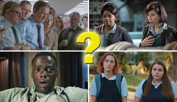 Best Picture Oscar nominees The Post The Shape of Water Get Out Lady Bird
