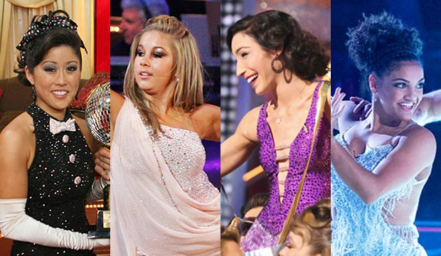 Kristi Yamaguchi, Shawn Johnson, Meryl Davis and Laurie Hernandez, Dancing with the Stars