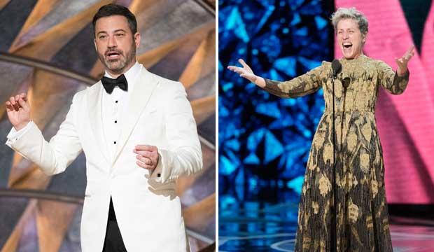 Jimmy Kimmel and Frances McDormand Oscars 2018
