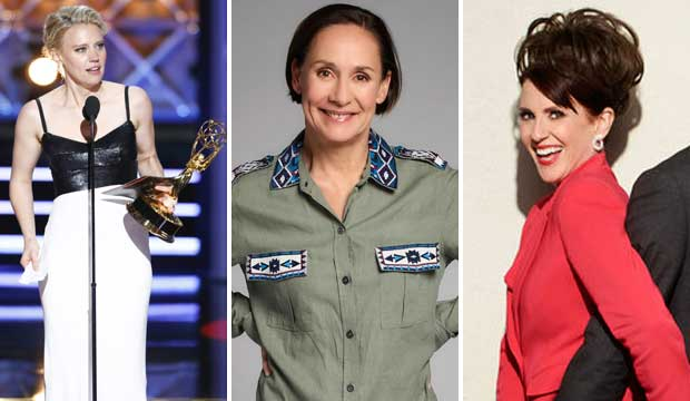 Kate McKinnon Laurie Metcalf and Megan Mullally
