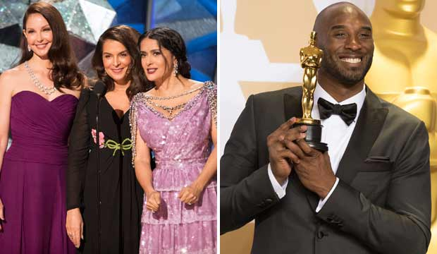 Ashley Judd Annabella Sciorra Salma Hayek Pinault Kobe Bryant Oscars 2018