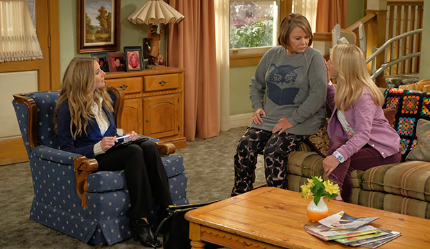 Sarah Chalke, Roseanne Barr and Lecy Goranson, Roseanne