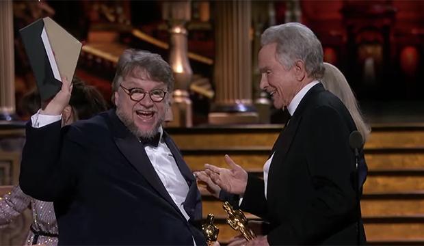 Guillermo del Toro and Warren Beatty