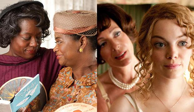 Viola Davis and Octavia Spencer; Allison Janney and Emma Stone, The Help