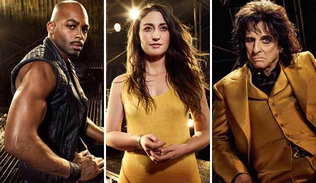 Brandon Victor Dixon Sara Bareilles and Alice Cooper Jesus Christ Superstar