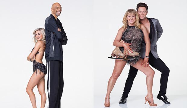 Lindsay Arnold and Kareem Abdul-Jabbar; Tonya Harding and Sasha Farber, Dancing with the Stars
