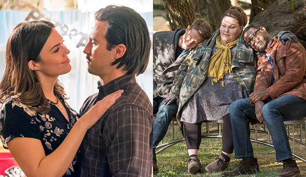 Mandy Moore and Milo Ventimiglia; Justin Hartley, Chrissy Metz and Sterling K. Brown, This Is Us