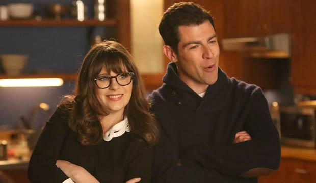 Zooey Deschanel and Max Greenfield New Girl