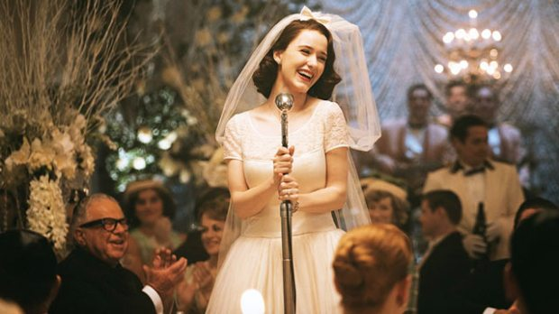 rachel brosnahan marvelous mrs maisel amazon wedding dress