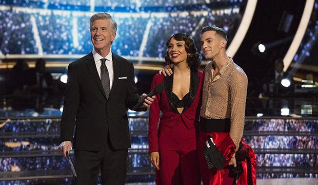 Tom Bergeron, Jenna Johnson and Adam Rippon, Dancing with the Stars: Athletes