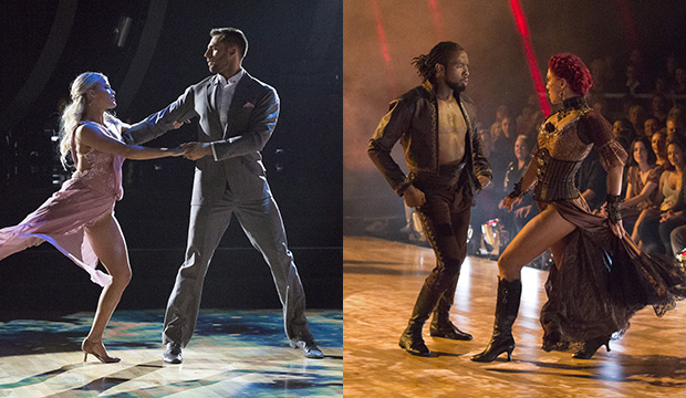 Witney Carson and Chris Mazdzer; Josh Norman and Sharna Burgess, Dancing with the Stars: Athletes