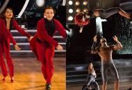 Jenna Johnson, Adam Rippon; Sharna Burgess, Josh Norman, Dancing with the Stars: Athletes