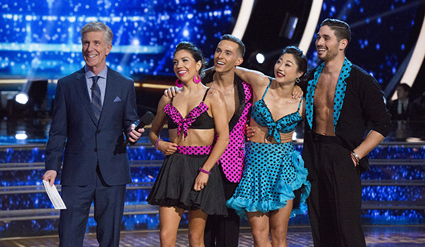 Tom Bergeron, Jenna Johnson, Adam Rippon, Mirai Nagasu and Alan Bersten, Dancing with the Stars: Athletes