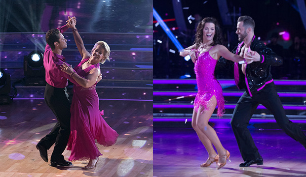 Sasha Farber and Tonya Harding; Nancy Kerrigan and Artem Chigvintsev, Dancing with the Stars