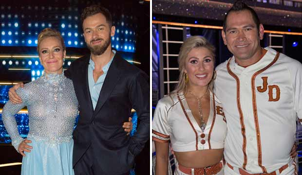 Jamie Anderson and Johnny Damon on Dancing with the Stars Athletes dwts