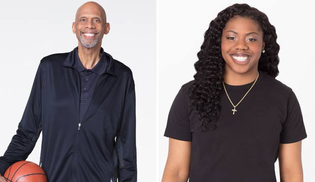 Kareem Abdul Jabbar and Arike Ogunbowale on Dancing with the Stars Athletes