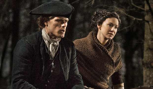 Sam Heughan and Caitriona Balfe Outlander