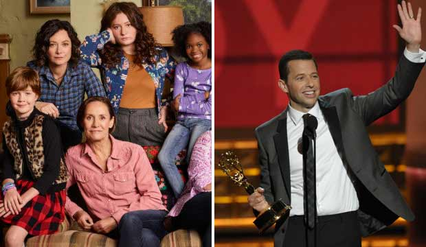 Roseanne and Jon Cryer emmys 2012
