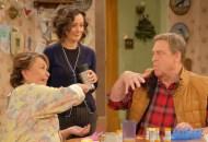 Roseanne Barr, Sara Gilbert and John Goodman, Roseanne