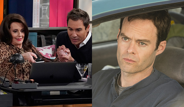 Megan Mullally and Eric McCormack, Will & Grace; Bill Hader, Barry