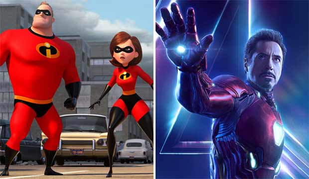 The Incredibles 2 and Avengers Infinity War