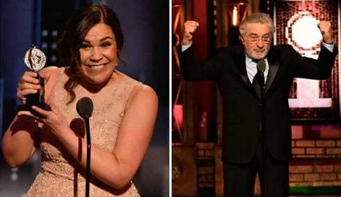 Lindsay Mendez and Robert De Niro Tony Awards 2018