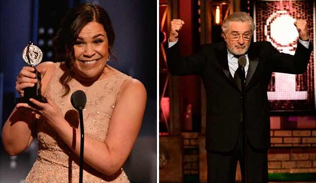 Lindsay Mendez and Robert De Niro Tony Awards 2018