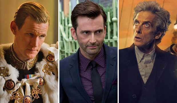 Matt Smith, David Tennant and Peter Capaldi