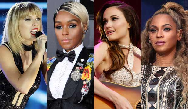 Taylor Swift Janelle Monae Kacey Musgraves Beyonce