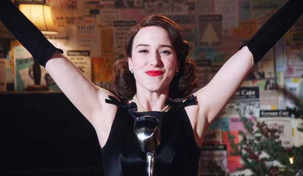Rachel Brosnahan in The Marvelous Mrs Maisel