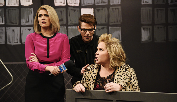 Mikey Day, Cecily Strong and Amy Schumer, Saturday Night Live