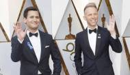 Benj Pasek and Justin Paul at the Oscars 2018