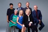 Nik Dodani, Grant Shaud, Jake McDorman, Tyne Daly, Faith Ford, Candice Bergen and Joe Regalbuto; Murphy Brown