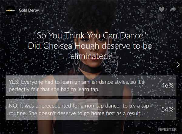 sytycd poll results chelsea hough