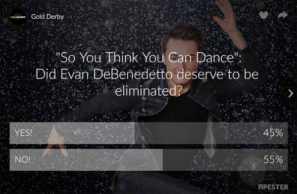sytycd poll results evan debenedetto