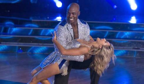 DeMarcus Ware and Lindsay Arnold on DWTS
