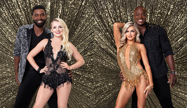 Keo Motsepe and Evanna Lynch; Lindsay Arnold and DeMarcus Ware, Dancing with the Stars