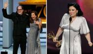 Glenn Weiss and Alex Borstein at Emmys 2018