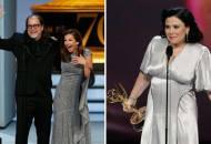 Glenn Weiss and Alex Borstein at Emmys 2018