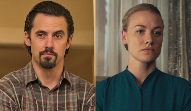 Milo Ventimiglia, This Is Us; Yvonne Strahovski, The Handmaid's Tale