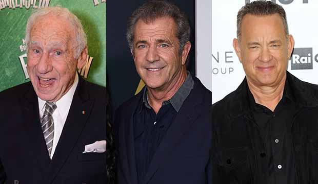 Mel Brooks Mel Gibson Tom Hanks