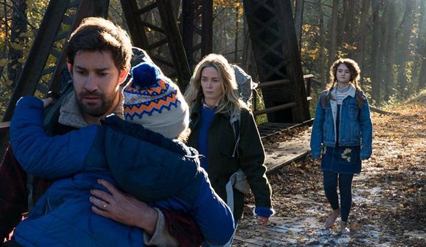 John Krasinski, Noah Jupe, Emily Blunt and Millicent Simmonds, A Quiet Place