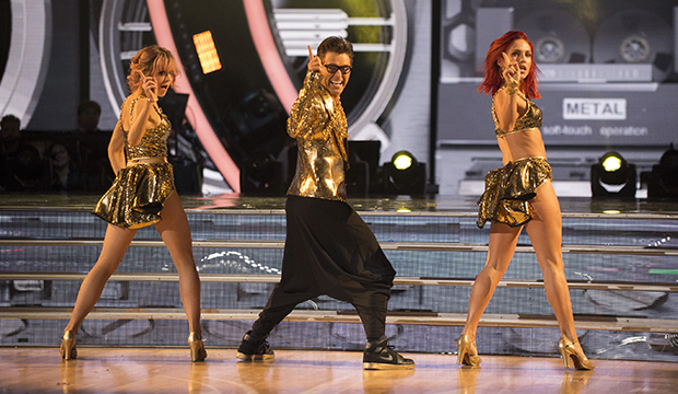 Lindsey Stirling, Bobby Bones and Sharna Burgess, Dancing with the Stars