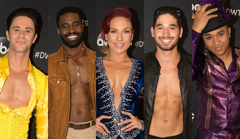 Sasha Farber, Keo Motsepe, Sharna Burgess, Alan Bersten and Brandon Armstrong, Dancing with the Stars