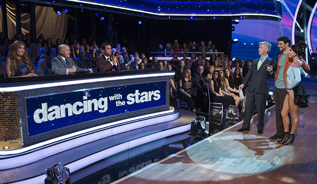 "Carrie Ann Inaba, Len Goodman, Bruno Tonioli, Tom Bergeron, Joe ""Grocery Store Joe"" Amabile and Jenna Johnson, Dancing with the Stars"