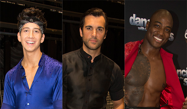 Milo Manheim, Juan Pablo Di Pace and DeMarcus Ware, Dancing with the Stars